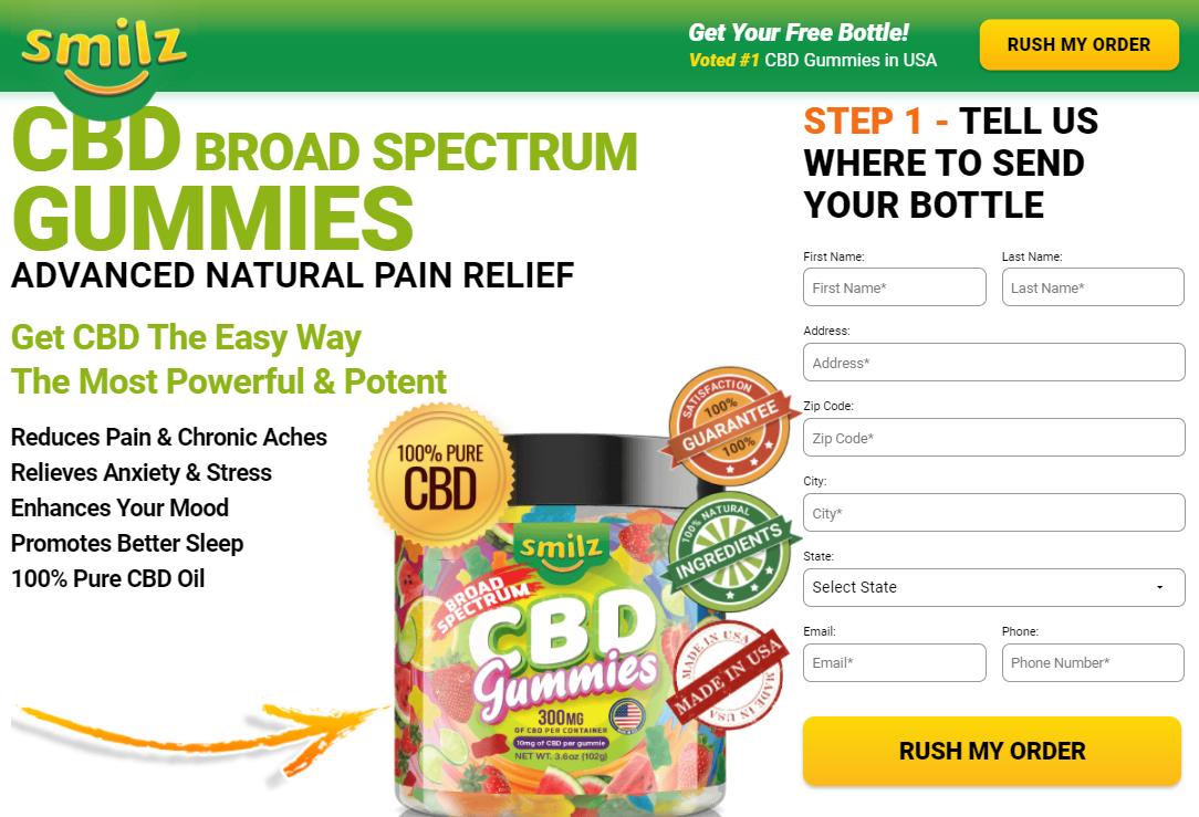 Smilz CBD Broad Spectrum Gummies-where to buy
